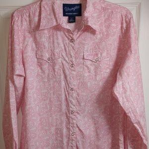 Wrangler Ladies Pink Paisley Breast Cancer Shirt